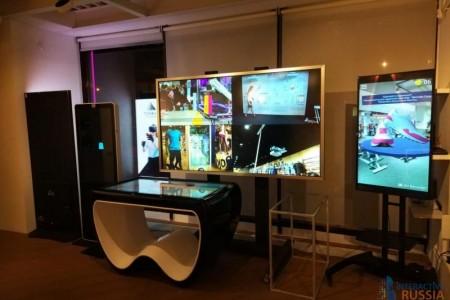 Стенд Interactive Russia на мероприятии «Дни торговых центров»